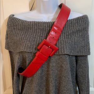 Red belt by Betsy Johnson